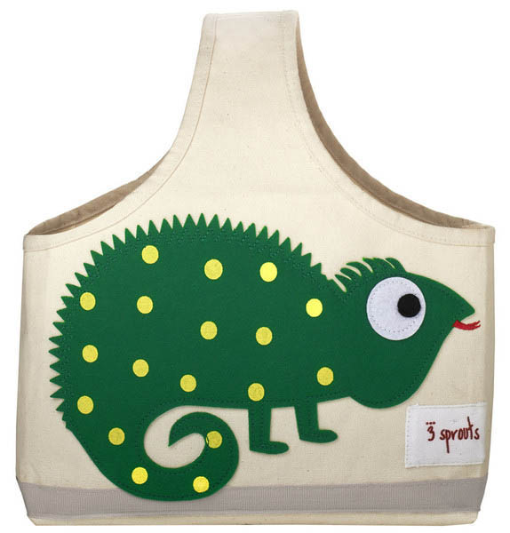 3 Sprouts Green Iguana Canvas Caddy