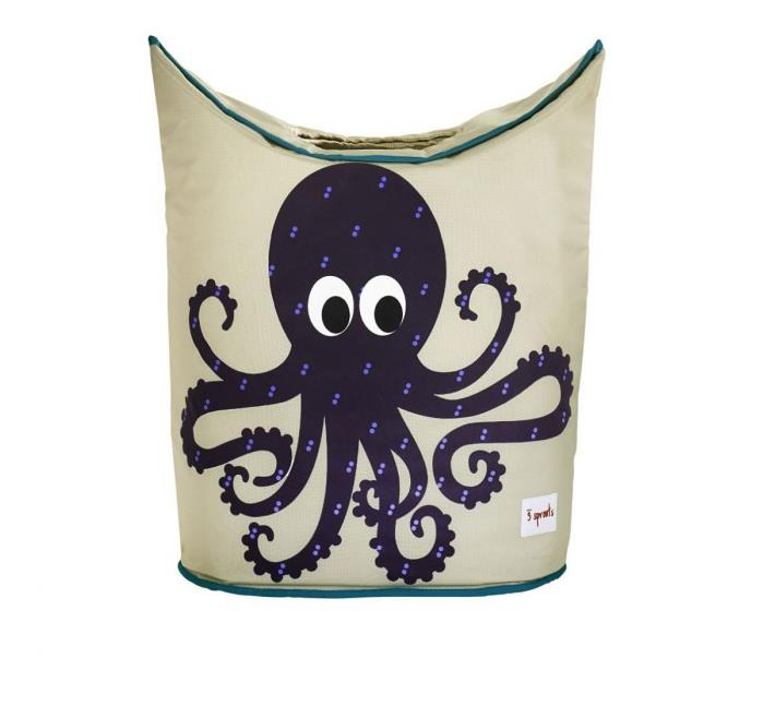 3 Sprouts Laundry Hamper {Purple Octopus}