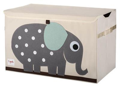 3 Sprouts Toy Chest {Grey Elephant}