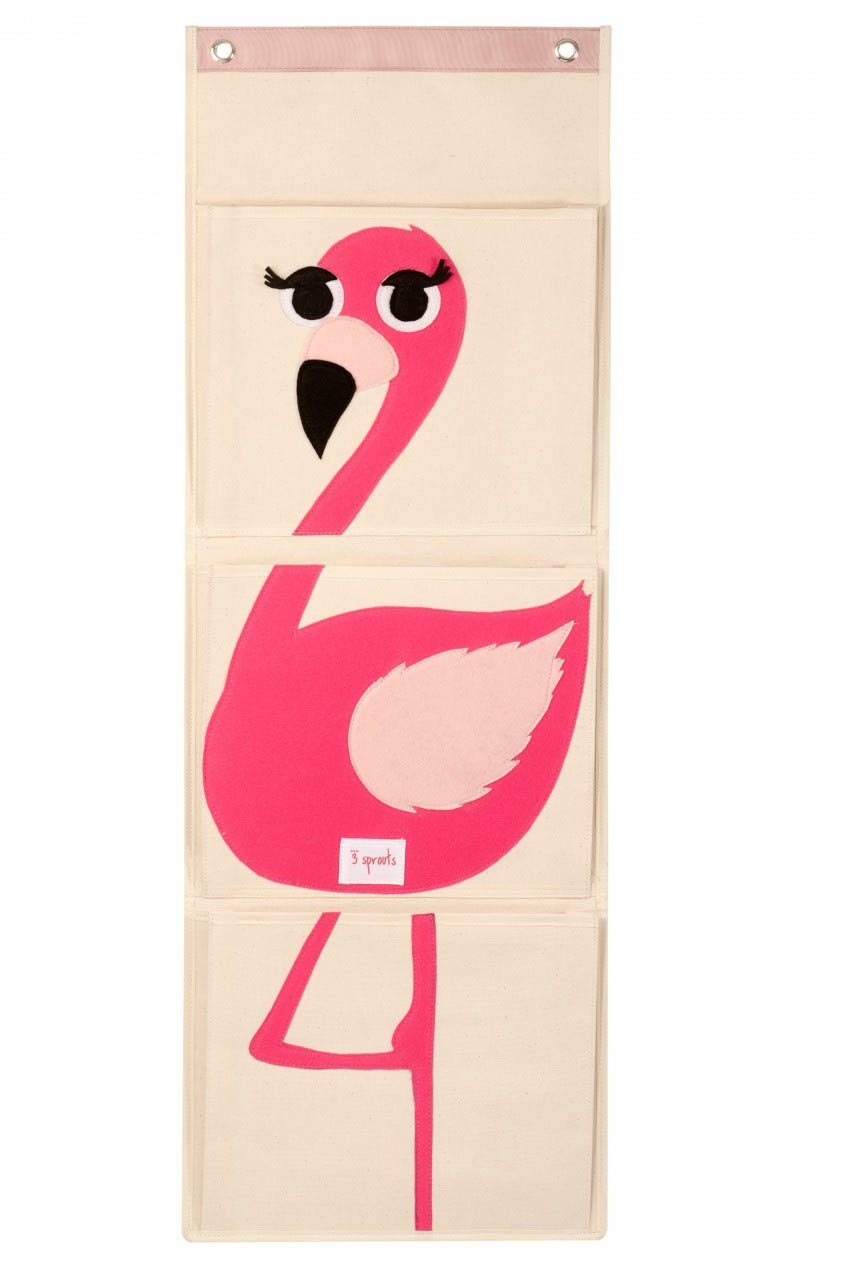 3 Sprouts- Storage Solutions- Wall Organiser {Pink Flamingo}