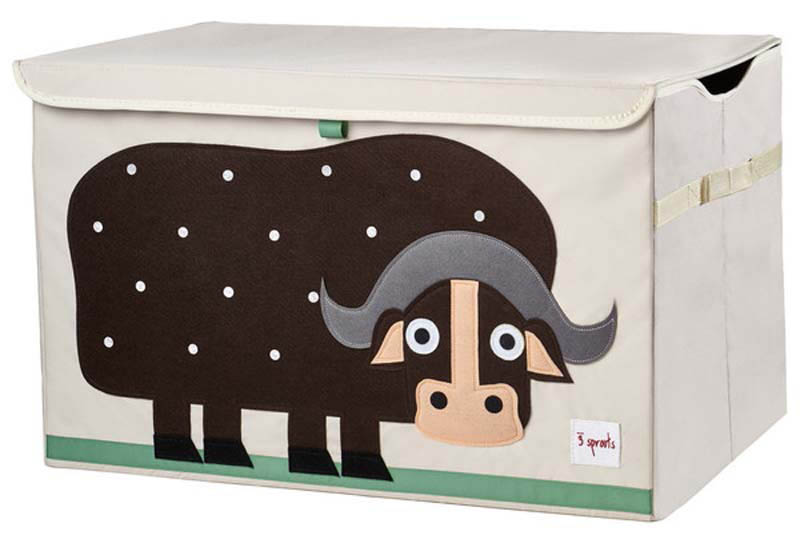 3 Sprouts Toy Chest -  Brown Buffalo
