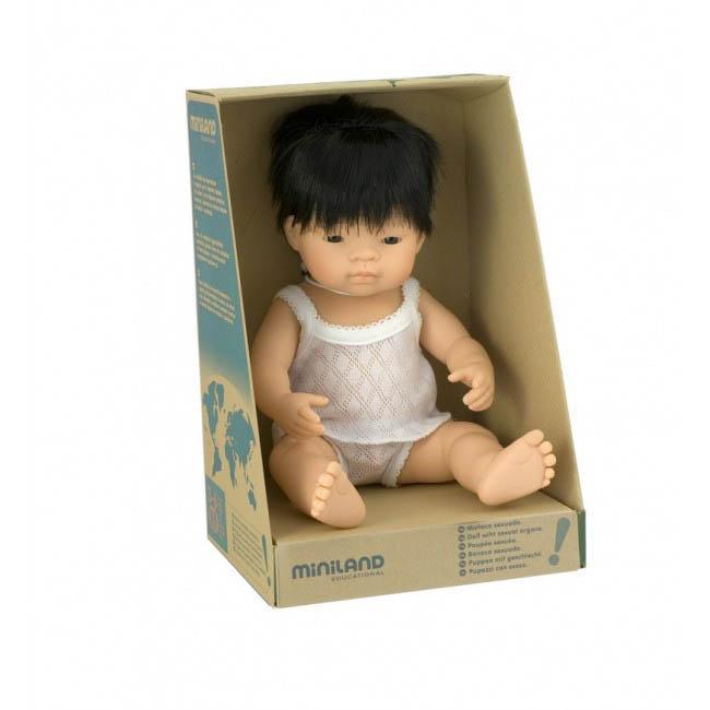 Miniland Asian Baby Boy Doll
