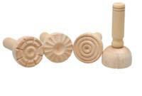 Wooden Dough Stampers - Set of 4