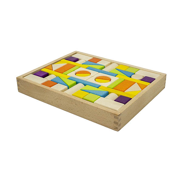 Artiwood - 54 piece Wooden Block Tray (with drawstring bag)