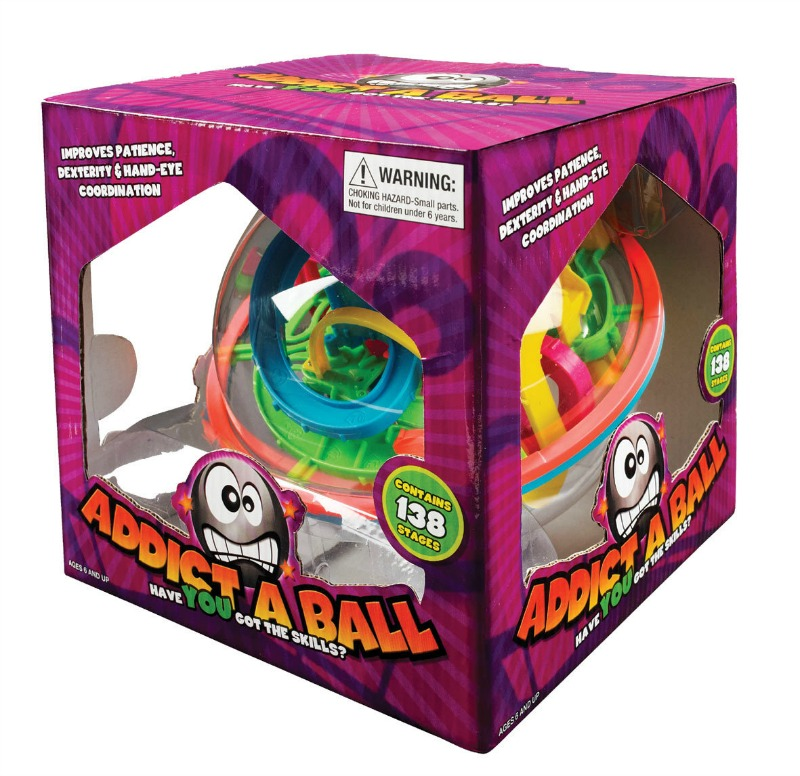 Twist, turn and tilt the transparent orb to race the metal ball through the 3D Maze of holes, spirals and platforms.