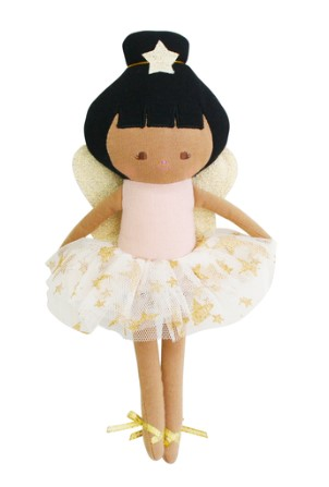 Alimrose Baby Fairy Doll Pink Linen