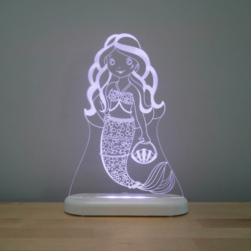 Aloka - LED Night Light - Mermaid - DUAL POWERED