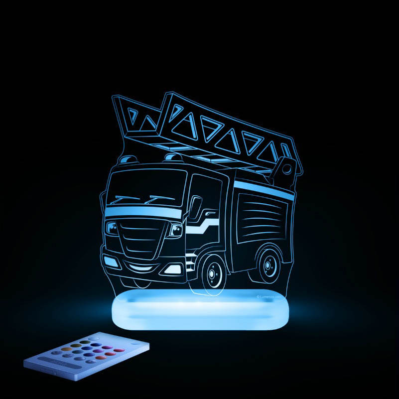 Aloka - LED Sleepy Light - Fire Engine - DUAL POWERED