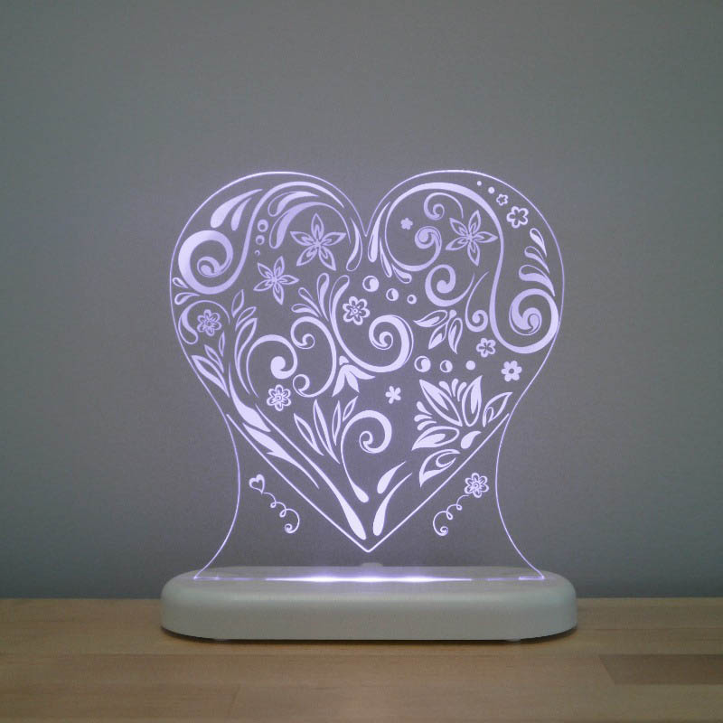 Aloka -  LED Sleepy Light - Loveheart - DUAL POWERED