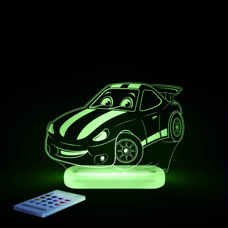 Aloka -  LED Sleepy Light - Race Car - DUAL POWERED