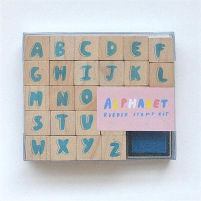 Yellow Owl Workshop Alphabet Rubber Stamp Kit