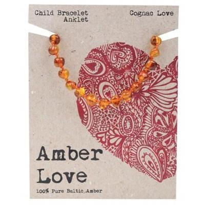 Amber Love Child Bracelet Cognac