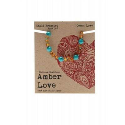Amber Love - Child Bracelet/Anklet - Ocean  Love