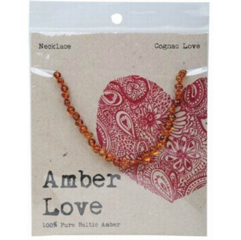 Amber Love - Child Necklace - Cognac Love