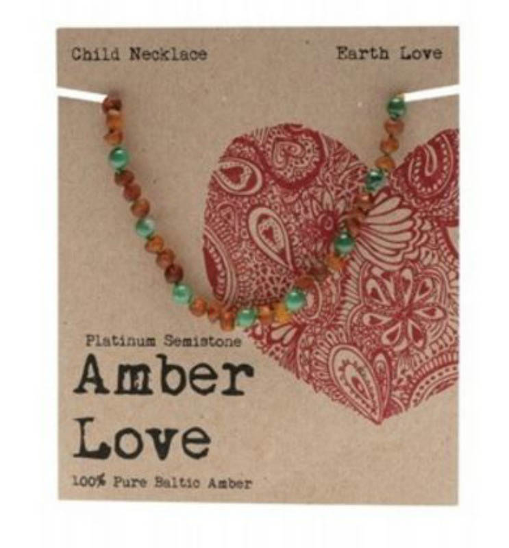 Amber Love - Child Necklace - Earth Love