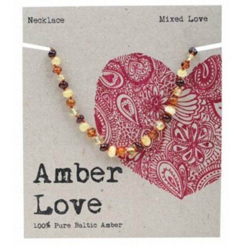 Amber Love - Child Necklace - Mixed  Love