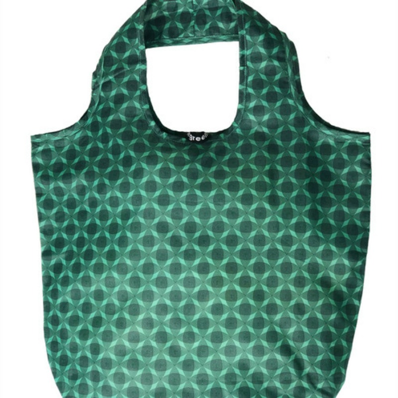 Apple Green Duck Yetty Reusable Tote Bag Green Circles