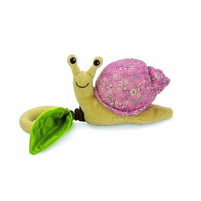 Apple Park Crawling Critter Pink Floral Snail