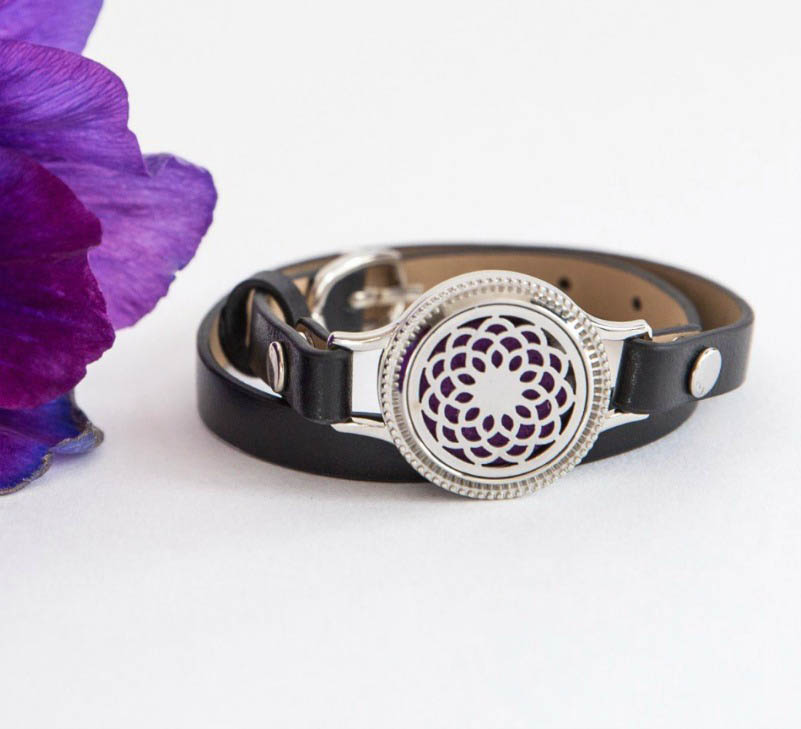 Aroma Jewels - Essential Oil Diffuser Locket Bracelet - Blossom