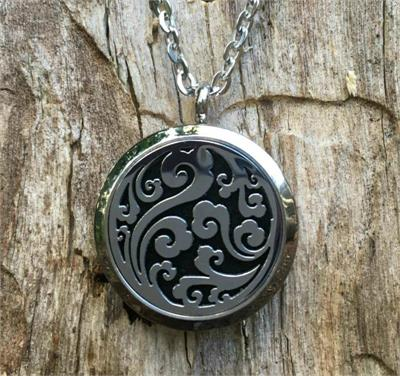 Aroma Jewels Essential Oil Diffuser Locket Necklace Flourish