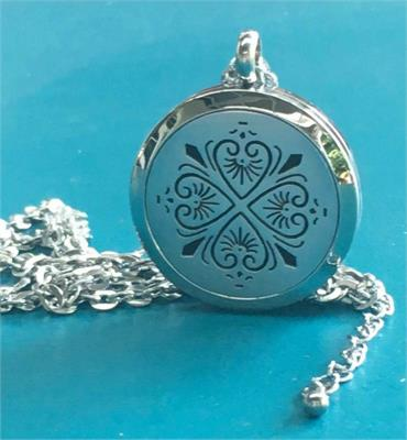 Aroma Jewels Essential Oil Diffuser Locket Necklace Clover