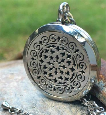 Aroma Jewels Essential Oil Diffuser Locket Necklace Moroccan