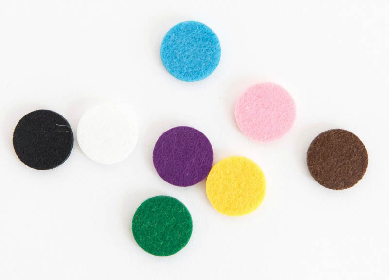 Aroma Jewels - Replacement 30mm Diffusing pads - assorted colours