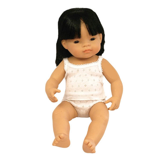 Miniland Asian Baby Girl Doll