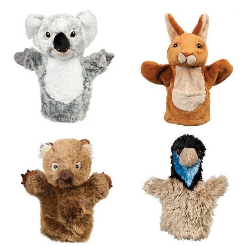 "Wombat Hand Puppet soft plush toy 10/""//25cm WOLLY by Minkplush NEW"