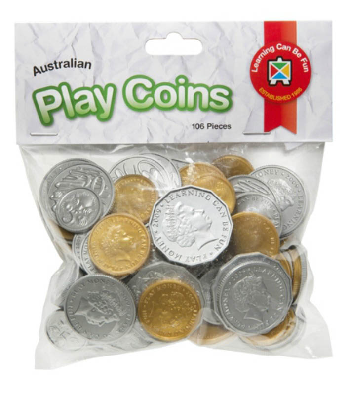 Australian Play Coins (106pcs)