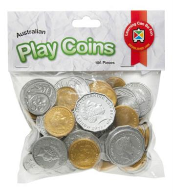 Australian Play Coins 106pcs