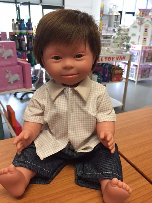 Brunette Boy - Down Syndrome Doll