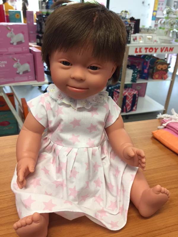 Brunette (short hair) - Down Syndrome Doll