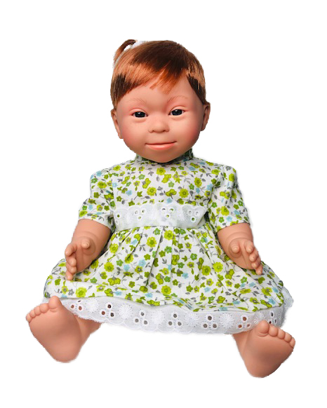 Red Haired Girl (short hair) Down Syndrome Doll