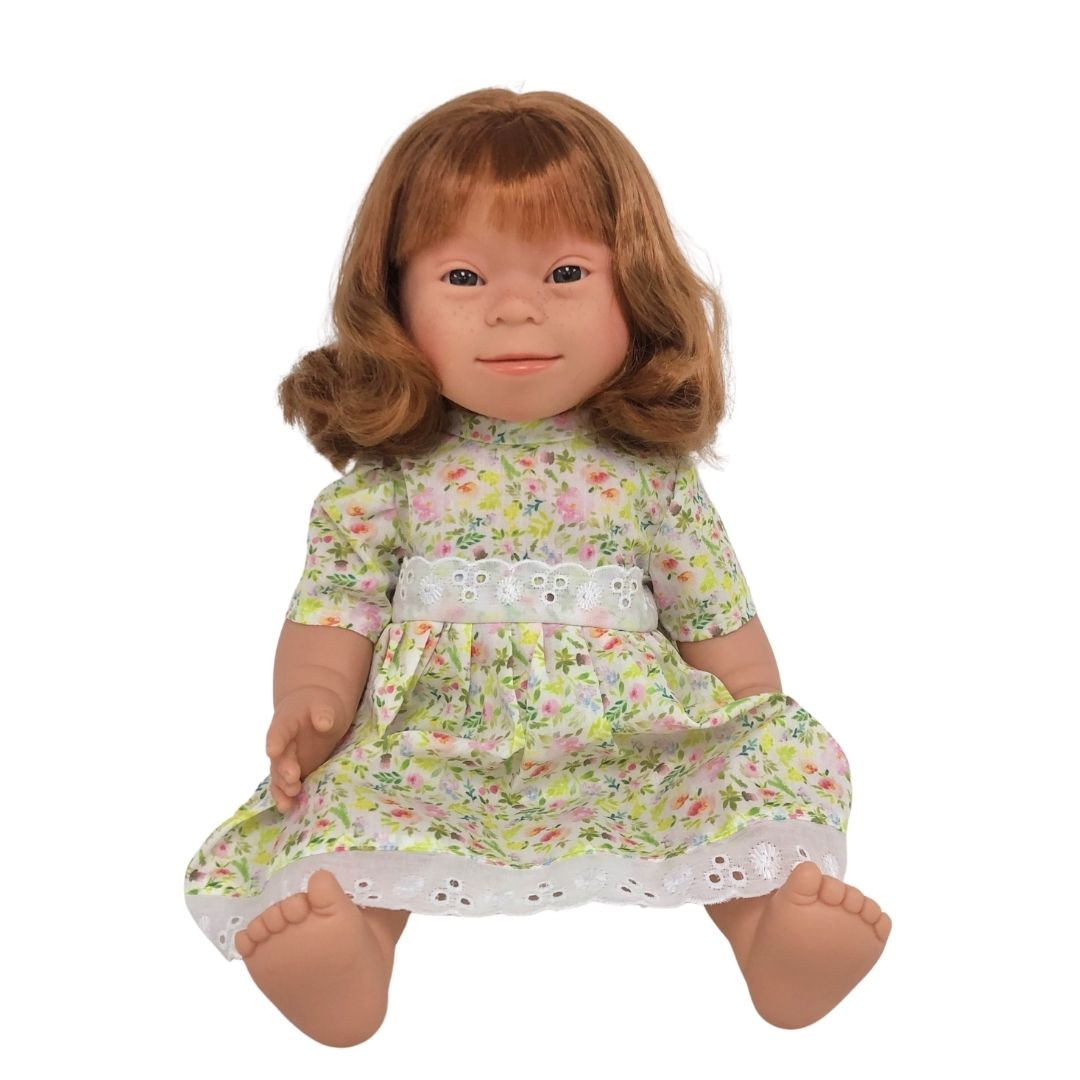 Red Haired Girl (long hair)- Down Syndrome Doll