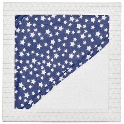 Baby Hooded Towel Navy Star