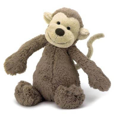 Jellycat Medium Bashful Monkey