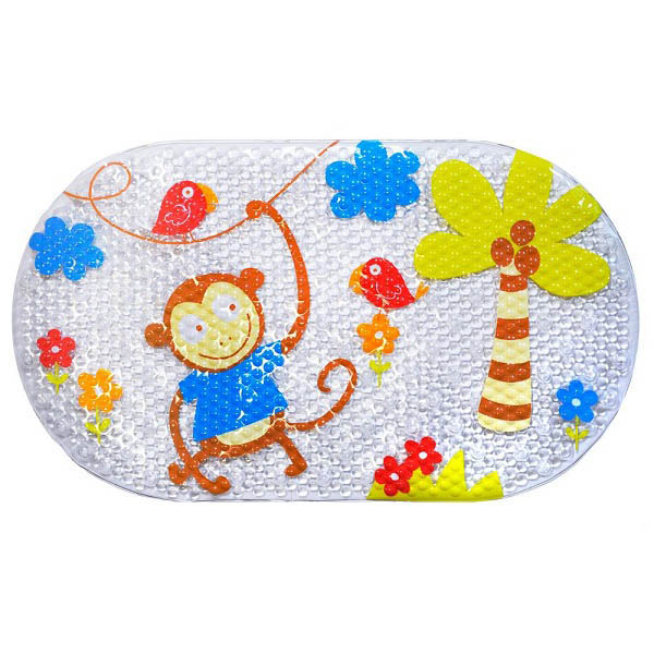 Star and Rose-Bath Mat PVC - Monkey