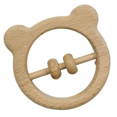 Bear Wooden Baby Rattle