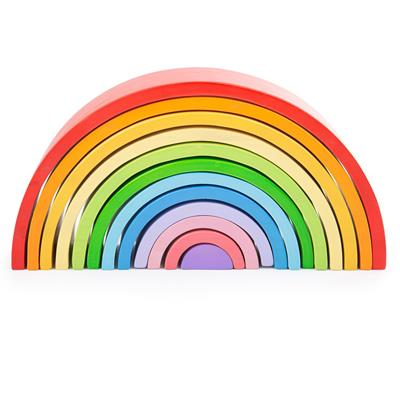 Bigjigs Toys Large Wooden Rainbow 12pcs
