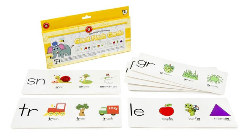 Blending Consonants Giant Flash Cards