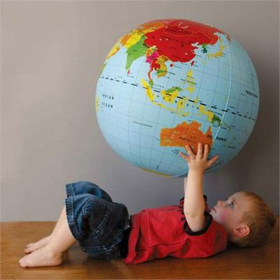Tiger Tribe 50 cm Inflatable World Globe