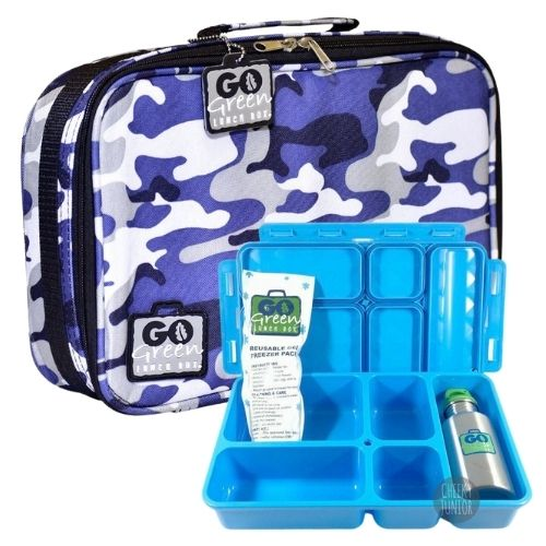 Blue Camo Go Green Lunch Box Set