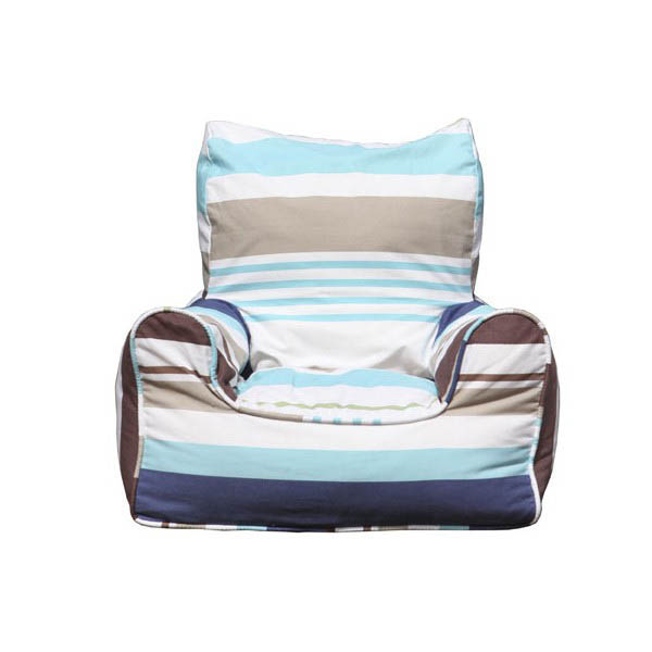 Lelbys-Kids Bean Bags-Bean Chair {Bluebell Stripes}
