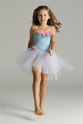Blushing Rose Fairy Dress - Pale Blue