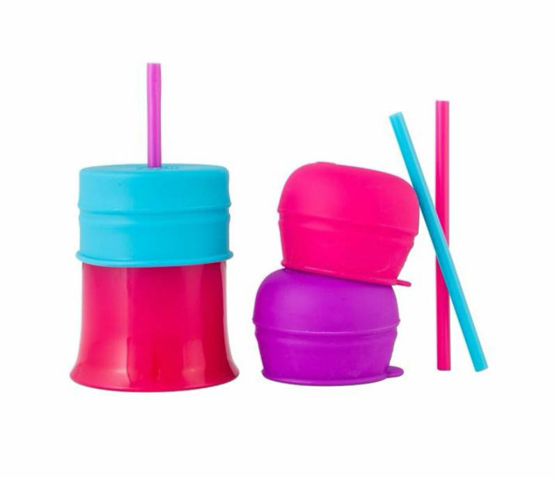 Boon SNUG Straw and Cup Set - Pink Multi