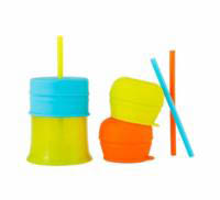 Boon SNUG Straw and Cup Set - Orange Multi
