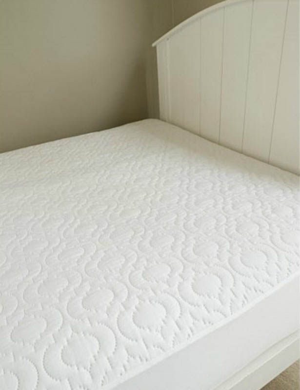 Brolly Sheets Fitted Mattress Protector - Quilted Single