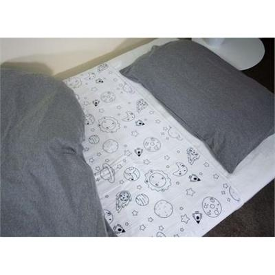 Brolly Sheets Galaxy Patterned Waterproof Sheet Protector Single