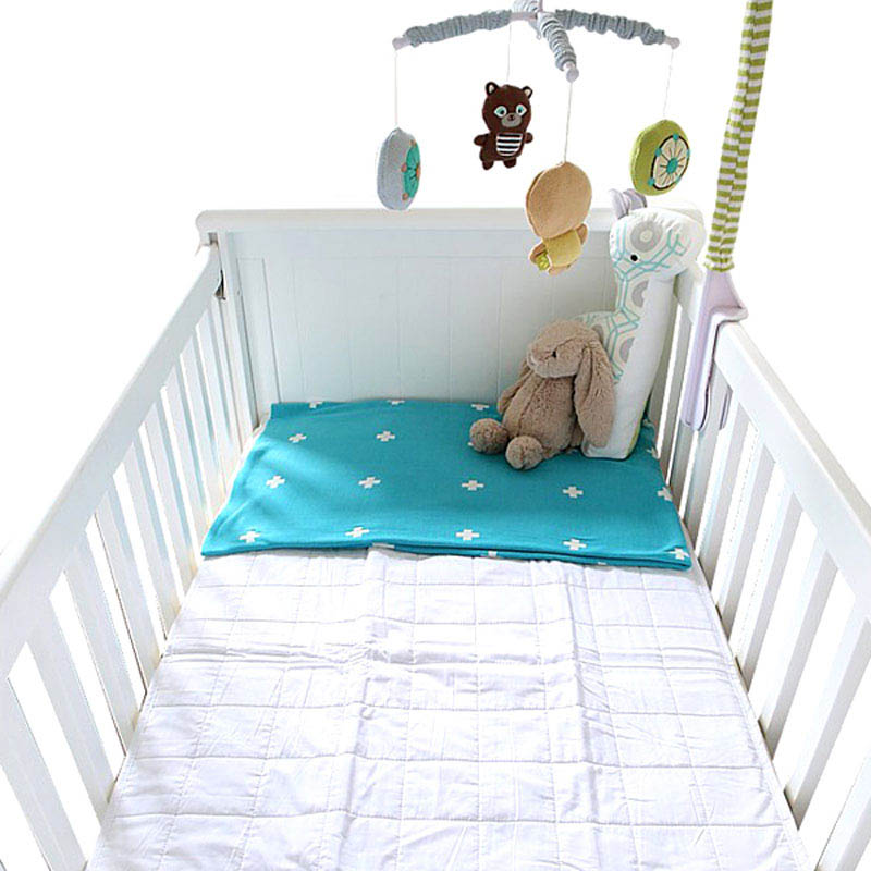 Brolly Sheets Fitted Quilted Cot Mattress Protector
